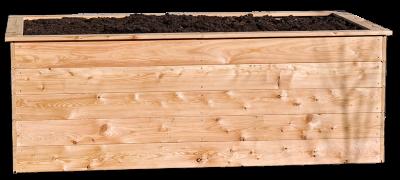 Lärchenhochbeet rustikal 130