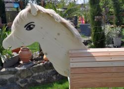 GALOPPI- DAS Spiel- und Gartenpferd, braun/toffee