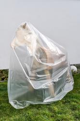 Abdeckhaube transpartent für Gartenpferd