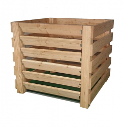 Robuster Komposter aus widerstandsfähigem Lärchenholz