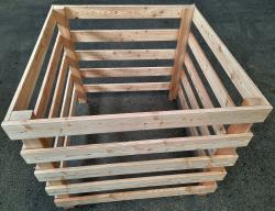 Waegner - Hochwertiger Komposter 95 Lärche aus stabilem Lärchenholz