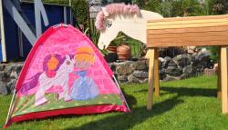 GALOPPI®-DAS Gartenpferd- DAS Spiel- und Gartenpferd- SET mit Spielzelt zauberhafter Feentraum mit Abdeckhaube